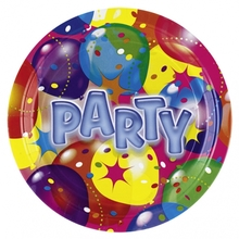 Talíře balon party 8ks 23 cm