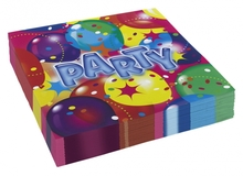 Ubrousky balon party 20ks 33cm x 33cm