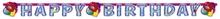 Balon party nápis narozeniny 180 x 15 cm
