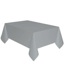 Ubrus stříbrný dva v jednom - papír + PVC 137cm x 274cm