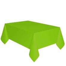 Ubrus světle zelený dva v jednom - papír + PVC 137cm x 274cm