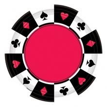 Casino talíře 8ks velké 27cm