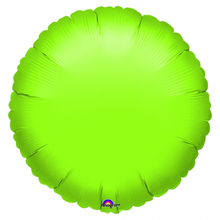 Balónek kruh Lime Green Metallic 42cm