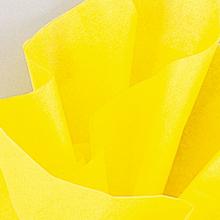 Hedvábný papír žlutý 10ks 51cm x 66cm