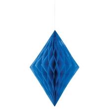 Závěsná dekorace diamant 35cm modrý
