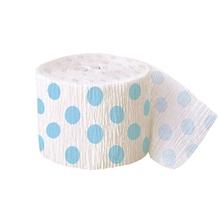 Krepový papír světle modro - bílý 9,14m