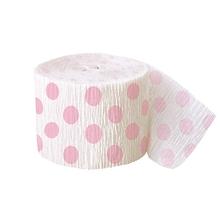 Krepový papír světle růžovo - bílý 9,14m
