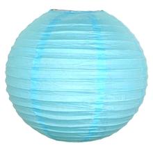 Lampion světle modrý 25cm