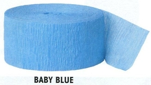 Krepový papír Baby Blue 24,6m x 4,4cm