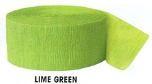Krepový papír Lime Green 24,6m x 4,4cm