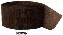 Krepový papír Brown 24,6m x 4,4cm