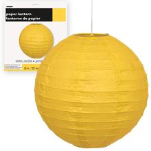 Lampion žlutý 25cm
