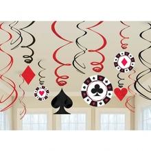 Casino závěsná dekorace 12ks 90cm