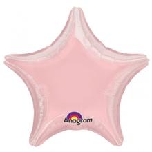 Balónek hvězda Pink Metallic Pearl