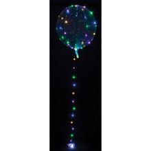 Čirý balónek s barevným LED řetězem 5 m
