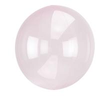 Průhledný balón světle růžový 45 cm