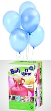 Helium Balloon time + balónky světle modré 30ks