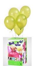 Helium Balloon time + balónky světle zelená 30ks