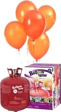 Helium Balloon time + balónky oranžové 50ks