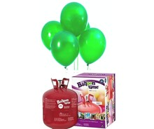 Helium Balloon time + balónky zelené 50ks