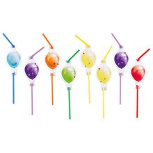 Slámky na pití balónky 8 ks