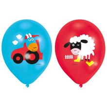 Farma balónky 6 ks 27,5 cm