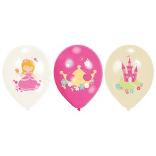 Princess balónky 6 ks 27,5 cm