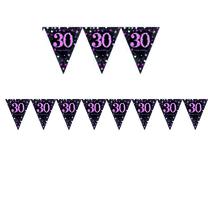 Vlajka 30. narozeniny pink 4 m