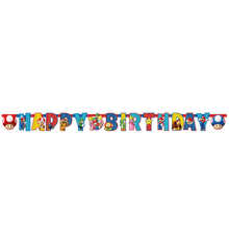 Super Mario narozeniny nápis 190cm x 8cm