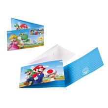 Super Mario pozvánky 8ks