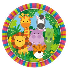 Safari talíře 8 ks 23 cm