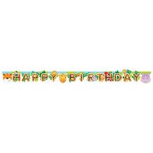 Safari nápis šťastné narozeniny 170 cm x 15 cm