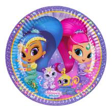 Shimmer & Shine talíře 8 ks 23 cm
