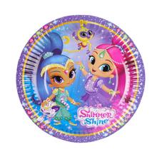 Shimmer & Shine talíře 8 ks 18 cm