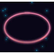 Svítící náhrdelník růžový 56 cm
