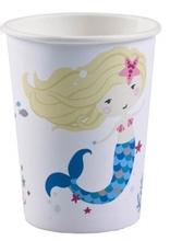 Mořská panna kelímky bílé 8 ks 250 ml