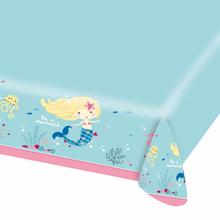 Mořská panna ubrus papírový 115 cm x 175 cm