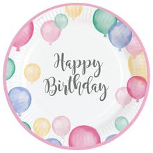 Talíře balónky narozeniny 8 ks 22,8 cm