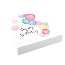 Ubrousky balónky narozeniny 20 ks 33 cm x 33 cm