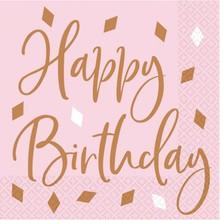 Ubrousky Happy Birthday 16 ks 33 cm x 33 cm