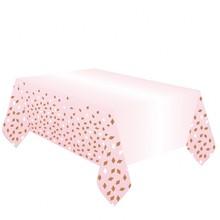 Ubrus růžovo-zlatý 180 cm x 120 cm
