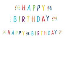 18. narozeniny nápis 180 cm x 14 cm