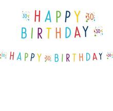 30. narozeniny nápis 180 cm x 14 cm