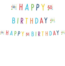 50. narozeniny nápis 180 cm x 14 cm