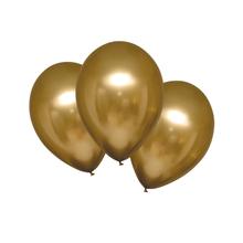 Balónky chromové zlaté 6 ks 27,5 cm