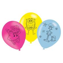 SpongeBob balónky 6 ks 27,5 cm
