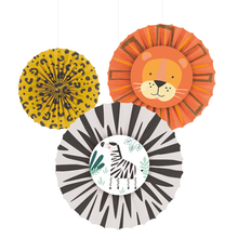 Safari dekorace na zavěšení 3 ks