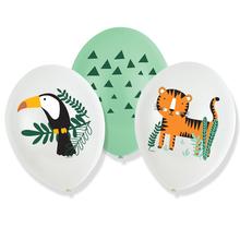 Safari balónky 6 ks 27,5 cm mix