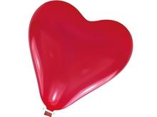 Balónek srdíčko velké s uzávěrem
