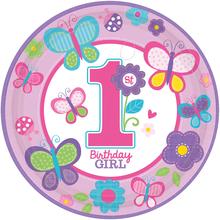 Talíře 1. narozeniny holka 8 ks 23 cm